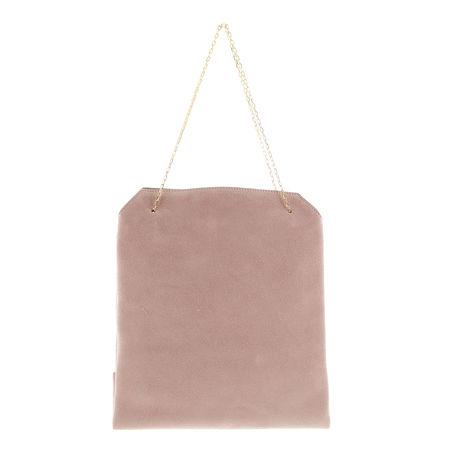 The Row  - Henkeltasche Lunch Bag aus Veloursleder