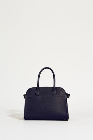 The Row  - Leder-Handtasche 'Margaux' Blau