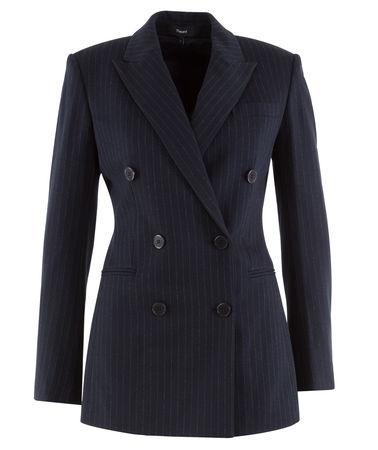 Theory  - Blazer Power Jacket aus Jersey schwarz
