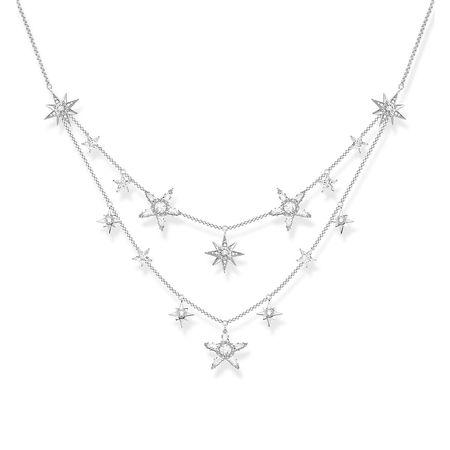Thomas Sabo  Halskette - Necklace Stars - in silber - für Damen grau