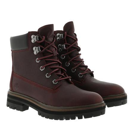 Timberland  Boots  -  London Square Boot Dark Port  - in rot  -  Boots für Damen schwarz