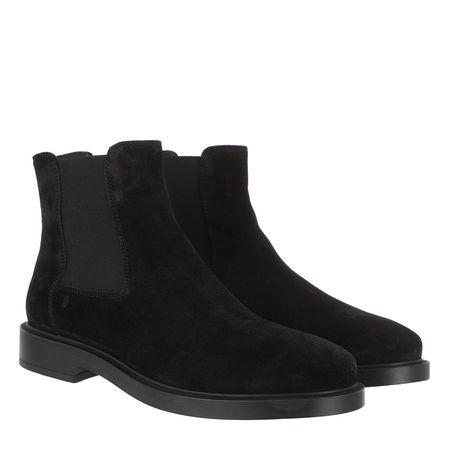 Tod's  Boots & Stiefeletten - Chelsea Boots Leather - in black - für Damen schwarz