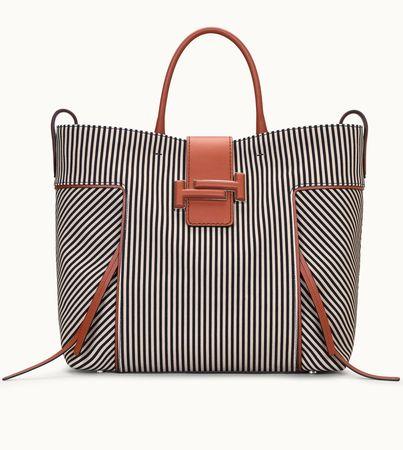 Tod's  Double T Shopping Large, BRAUN,SCHWARZ,BEIGE,  Handtasches weiss