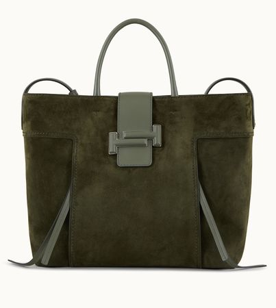 Tod's  Double T Shopping Large, GRÜN,  Handtasches weiss