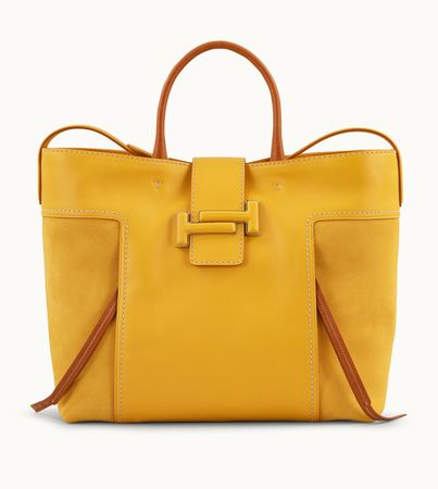 Tod's  Double T Shopping Large, ORANGE,GELB,  Handtasches weiss