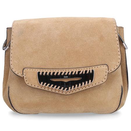 Tod's  Handtasche SRR010 Veloursleder Logo silber sand braun