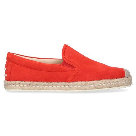 Tod's Loafer W66 Veloursleder rot rot