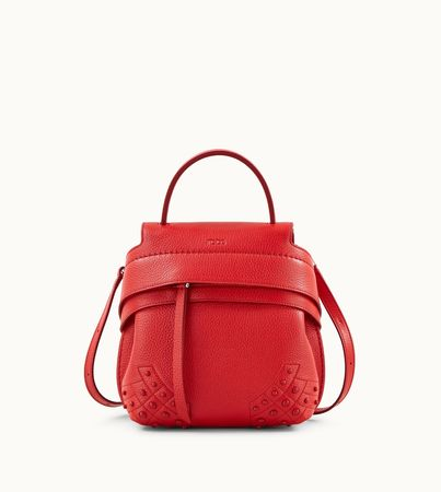 Tod's  Rucksack  Wave Handtasche Mini, ROT,  Handtasches weiss