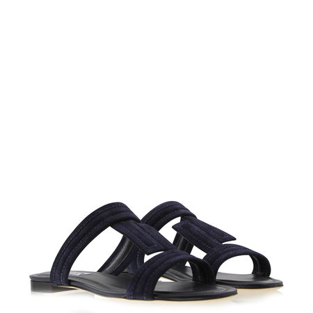 Tod's  - Sandalen aus Veloursleder schwarz