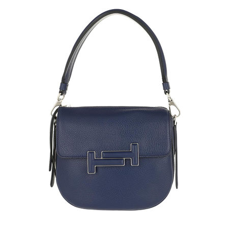 Tod's  Satchel Bag  -  Double T Crossbody Bag Mini Ink  - in blau  -  Satchel Bag für Damen grau