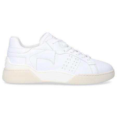 Tod's Sneaker low W31 Kalbsleder Logo weiß grau