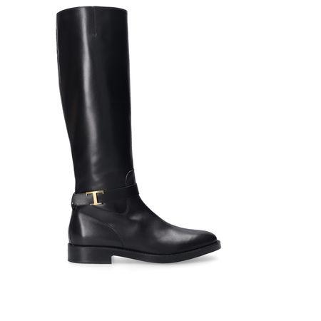 Tod's Stiefel W60C0 Kalbsleder Logo schwarz schwarz