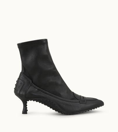 Tod's  Stiefeletten aus Leder, SCHWARZ, 36.5 Schuhe weiss