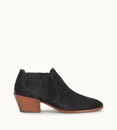 Tod's  Stiefeletten aus Veloursleder, SCHWARZ, 35 Schuhe weiss