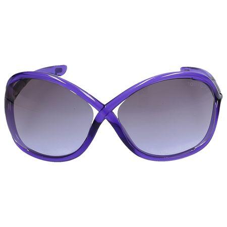 Tom Ford  Sonnenrille Oversize 9 78Z Acetat lila blau