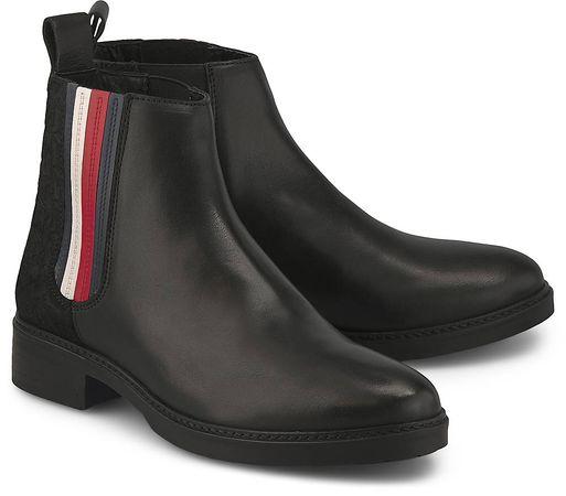 Tommy Hilfiger , Chelsea-Boots in schwarz, Boots für Damen grau