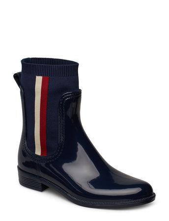 Tommy Hilfiger Odette 23v Gummistiefel Schuhe Blau  schwarz