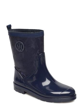 Tommy Hilfiger Oxford 27cw Gummistiefel Schuhe Blau  grau