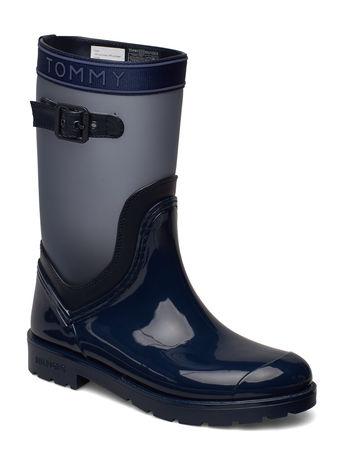 Tommy Hilfiger Oxford 29c Gummistiefel Schuhe Blau  grau