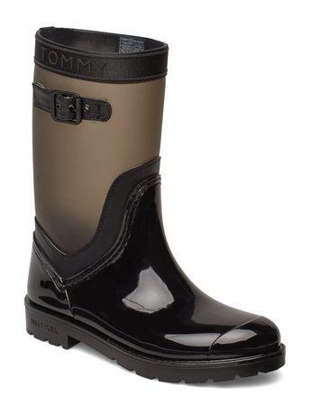Tommy Hilfiger Oxford 29c Gummistiefel Schuhe Schwarz  schwarz