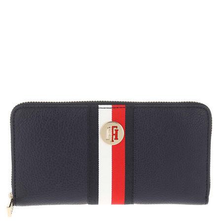 Tommy Hilfiger  Portemonnaie  -  TH Core Large Zip Around Sky Captain  - in marine  -  Portemonnaie für Damen grau