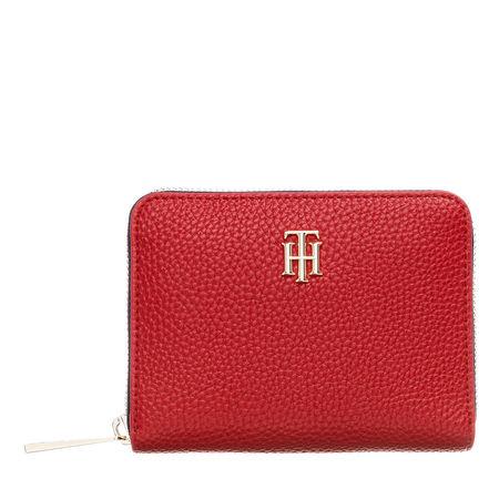 Tommy Hilfiger  Portemonnaie - TH Essence Medium Zip Around Corporate - in rot - für Damen rot