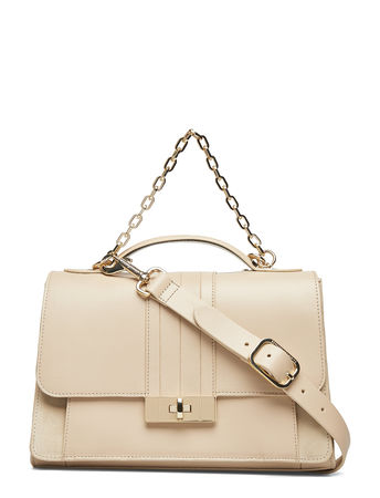 Tommy Hilfiger Th Chic Leather Satc Bags Top Handle Bags Beige  braun