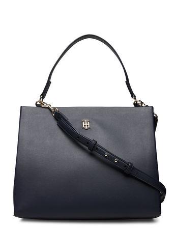 Tommy Hilfiger Th Modern Satchel Bags Top Handle Bags Schwarz  grau