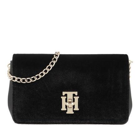 Tommy Hilfiger  Umhängetasche  -  Lock Mini Crossover Black  - in schwarz  -  Umhängetasche für Damen schwarz