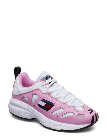 Tommy Hilfiger Wmns Nevis 1c2 Niedrige Sneaker Pink  grau