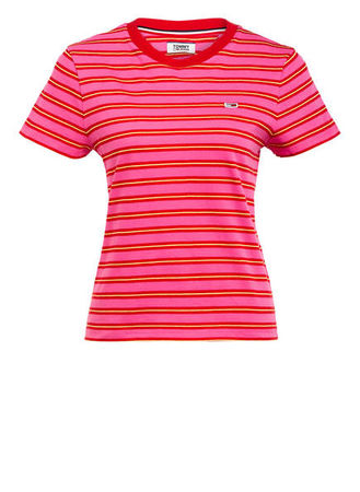 Tommy Jeans  T-Shirt pink rot