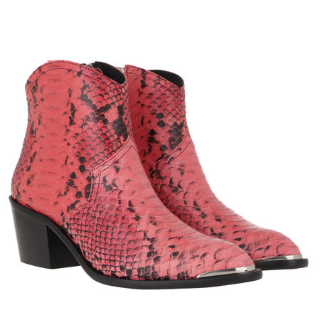 Toral  Boots & Stiefeletten - Ankle Boots Leather Snake Print - in light red - für Damen rot