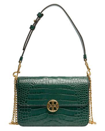 Tory Burch ® - Schultertasche aus Leder in Grün für Damen, Größe UNI gruen