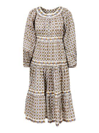 Tory Burch  - Baumwoll-Kleid mit Medallion-Print Multi braun