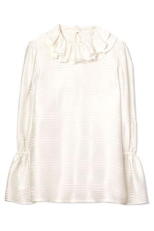 Tory Burch Damen Bluse mit Volants New Ivory beige