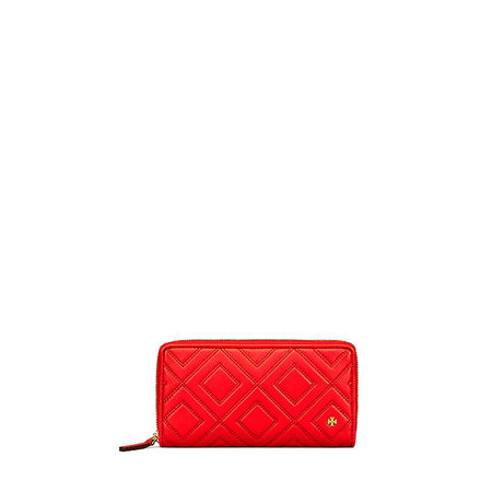 Tory Burch Damen Geldbörse Fleming Exotic Red rot