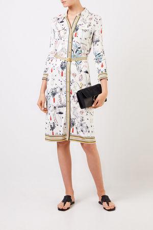 Tory Burch  - Hemdblusenkleid mit Allover-Print Multi