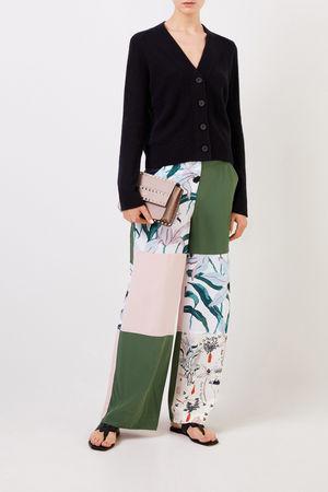 Tory Burch  - Seiden-Hose mit Patchwork-Print Multi