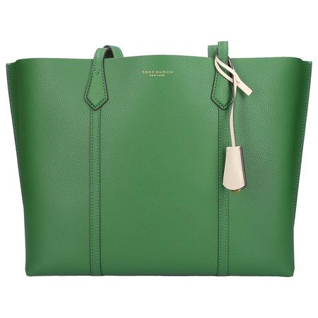 Tory Burch Shopper PERRY TOTE Kalbsleder logo grün gruen