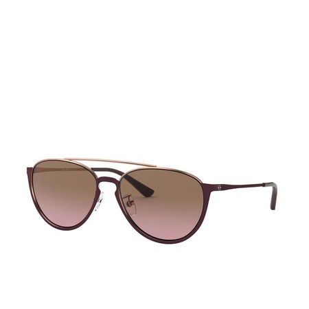 Tory Burch  Sonnenbrille  -  Woman Sunglasses Metal Shiny Bordeaux Metal  - in rot  -  Sonnenbrille für Damen braun