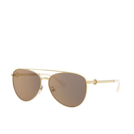 Tory Burch  Sonnenbrille  -  Woman Sunglasses Metal Shiny Gold Metal  - in gold  -  Sonnenbrille für Damen braun