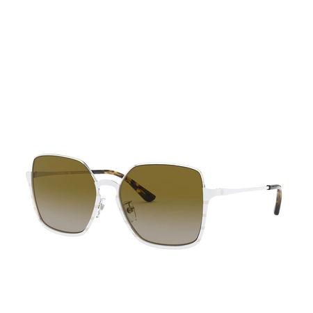 Tory Burch  Sonnenbrille  -  Woman Sunglasses Metal Shiny Gold Metal  - in weiß  -  Sonnenbrille für Damen gruen