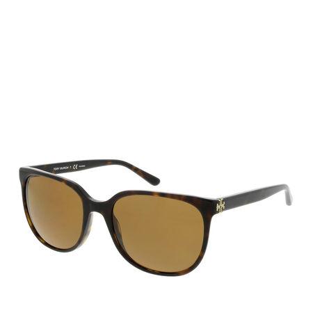 Tory Burch  Sonnenbrille  -  Women Sunglasses Classic 0TY7106 Dark Tortoise  - in braun  -  Sonnenbrille für Damen gruen