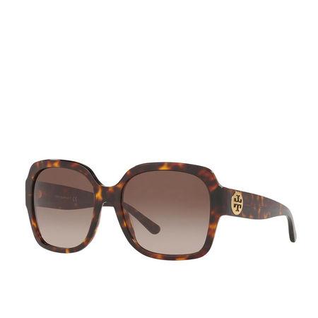 Tory Burch  Sonnenbrille  -  Women Sunglasses Classic 0TY7140 Dark Tortoise  - in braun  -  Sonnenbrille für Damen braun