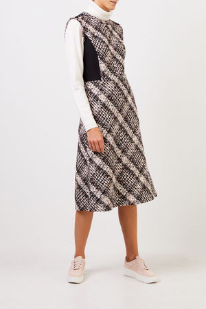Tory Burch  - Tweed-Kleid mit Fransen Multi