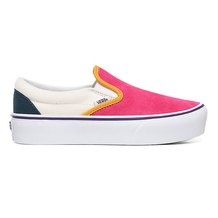 Vans  Mini Cord Classic Slip-on Plateauschuhe ((mini Cord) Multi/true White) Damen Multicolour, Größe 34.5 grau