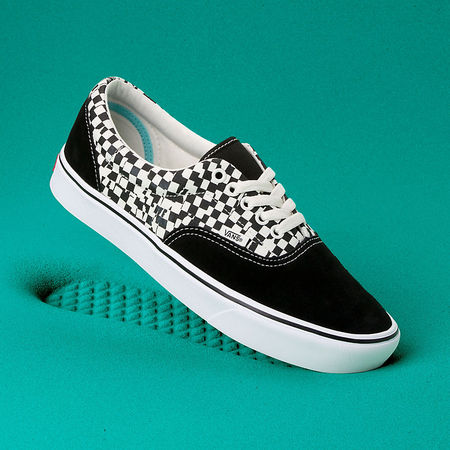 Vans  Tear Check Comfycush Era Schuhe ((tear Check) Black/true White) Damen Schwarz, Größe 34.5 tuerkis