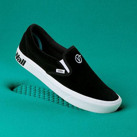 Vans  Distort Comfycush Slip-on Schuhe ((distort) Black/true White) Damen Schwarz, Größe 35 tuerkis