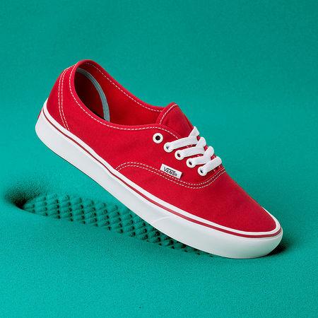 Vans  Classic Comfycush Authentic Schuhe ((classic) Racing Red/true White) Damen Weiß, Größe 34.5 tuerkis
