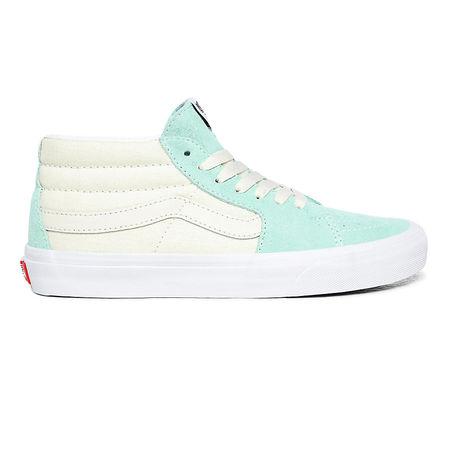 Vans  Retro Sport Sk8-mid Schuhe ((retro Sport) Antique White/true White) Damen Weiß, Größe 34.5 tuerkis